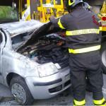 Panda cappottata: incidente lungo strada della Bruciata a Senigallia