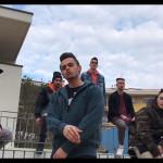 """Il rapper di Senigallia Karma sul set di """"Voglio una vita diversa"""""""