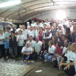 Lo staff dell'Associazione Promotrice Montignanese alla Festa del Cuntadin