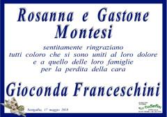 I ringraziamenti di Rosanna e Gastone Montesi