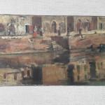 Il Misa in centro a Senigallia dipinto da Corrado Gabani, pittore dell'800 e '900