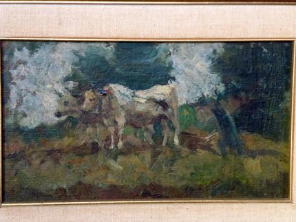 Dipinto di Corrado Gabani, pittore dell'800 e '900