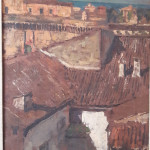 Via Marchetti e la Rocca di Senigallia dipinti di Corrado Gabani, pittore dell'800 e '900