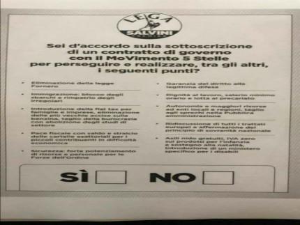 Sondaggio Lega Nord Senigallia