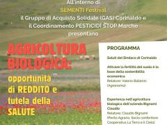 Agricoltura biologica: opportunità di reddito e tutela della salute, a Sementi Festival a Corinaldo