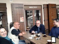 Il giornalista di Repubblica Michele Smargiassi ospite delle Giornate 2018, al Caffè Fotografico di Senigallia assieme a Simona Guerra, Stefano Mariani e Simone Francescangeli