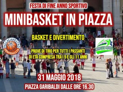 Festa del Minibasket in Piazza Garibaldi