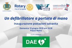 Inaugurazione postazioni DAE a Senigallia