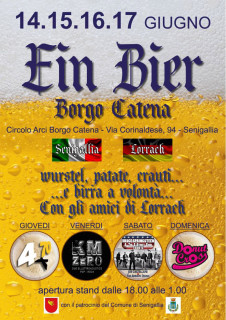 Ein Bier Borgo Catena: programma edizione 2018