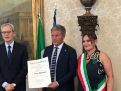 Conferimento dell'Onorificenza al Cavaliere Ufficiale Cesare Morganti