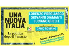 """A Senigallia la presentazione del libro """"Una nuova Italia"""""""