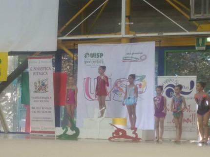 la giovanissima ginnasta emergente Rocchetti Irene conquista il terzo posto del podio nazionale