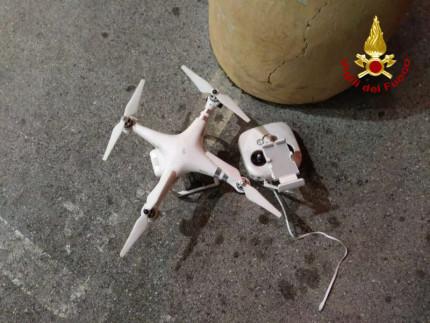 Drone caduto a Marina