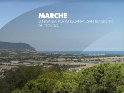 Le spiagge delle Marche nella brochure di Trenitalia