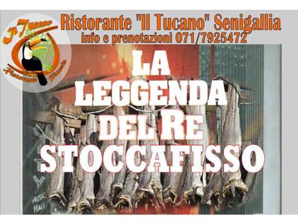 La leggenda del re stoccafisso - Cena al ristorante pizzeria Il Tucano di Senigallia