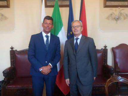 Il Sindaco Maurizio Mangialardi e il prefetto di Ancona Antonio D'Acunto