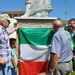 Il Sindaco Andrea Bomprezzi alla commemorazione dei fondatori di Castelverde e Villaggio Prenestino