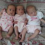 Le gemelle Verdini: Giada, Arianna e Ludovica