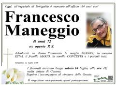 Necrologio Francesco Maneggio