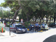 Carabinieri ai Giardini Morandi