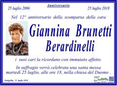 Giannina Brunetti Berardinelli, anniversario morte