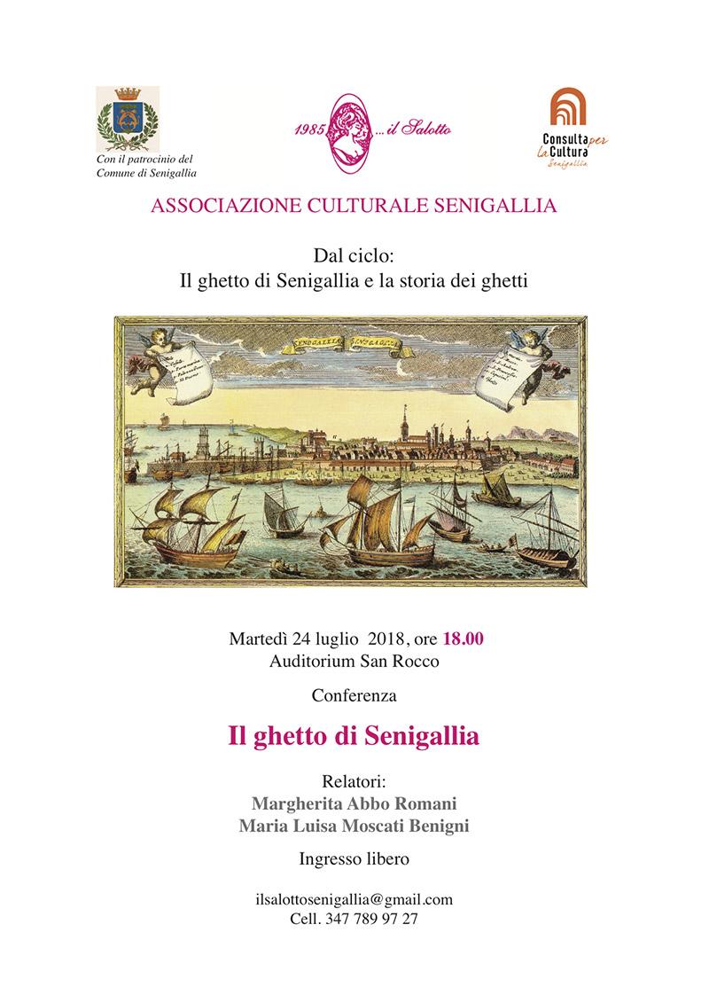 """Conferenza """"Il ghetto di Senigallia"""" - locandina"""