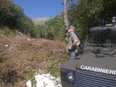 Carabinieri Forestali all'Infernaccio di Montefortino