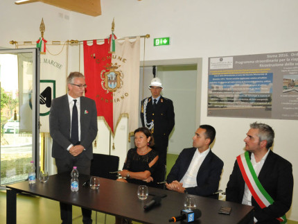 Inaugurazione della scuola materna ricostruita a Fabriano