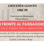 """""""Di fonte al passaggio"""" a Trecastelli"""