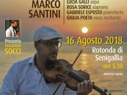 Marco Santini alla Rotonda a mare