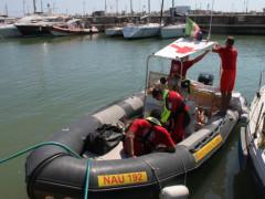 Il comitato Cri di Senigallia impegnato nell'attività di soccorso in mare