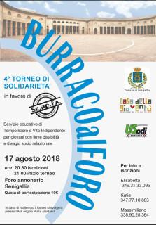 Burraco al Foro Annonario di Senigallia - locandina