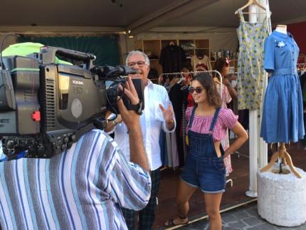 Paolo Notari e la troupe di Estate in Diretta al Summer Jamboree