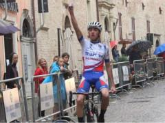 Samuele Garofoli sul traguardo del Trofeo Pubblica Assistenza 2018 di Corinaldo