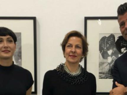 Katiuscia Biondi con Olga Strada e Maurizio Mangialardi