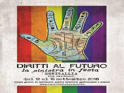 """Locandina della festa """"Diritti al futuro"""""""