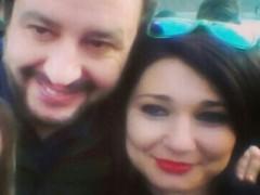 Matteo Salvini e Michela Silvestrini