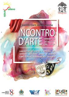 """""""Incontro d'arte"""" al Teatro Nuovo Melograno - locandina"""