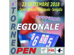 Torneo regionale open di tennistavolo a Senigallia