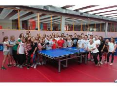 Gli studenti di Lörrach al Centro Olimpico Tennistavolo