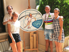 Mosaico dedicato a Mauro Guenci