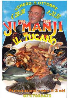Brodetto senza spine - Cena al ristorante pizzeria Il Tucano di Senigallia - locandina
