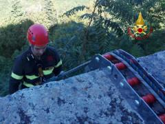 Vigili del fuoco ad Arcevia per recupero effetti personali
