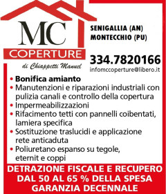 Servizi offerti da MC Coperture di Manuel Chiappetti - Detrazioni fiscali, garanzia decennale