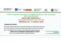 166° anniversario della fucilazione del patriota Girolamo Simoncelli