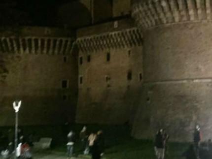 Giardini Rocca Roveresca di notte