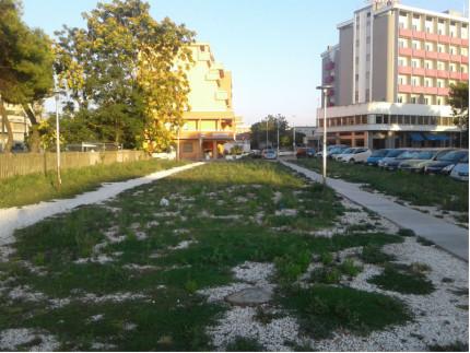 Parcheggio Stazione, ex pineta