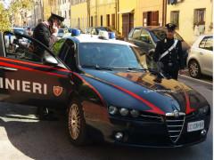 Carabinieri in via Baroccio