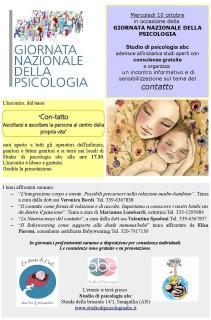 Giornata Nazionale della Psicologia allo studio di psicologia abc di Senigallia