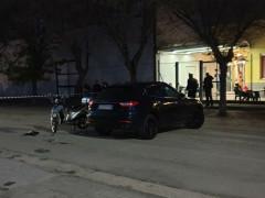 Incidente tra SUV e scooter alla Cesanella